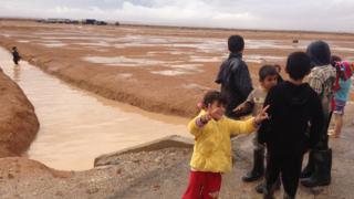 Syrian children in Zaatari camp