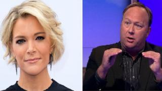 Composite image of Megyn Kelly and Alex Jones
