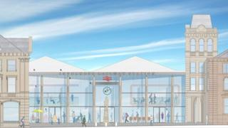 Illustration of redevelopment of Inverness Station