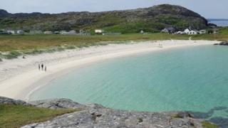 Achemelvich beach in the Highlands