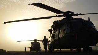 Mali'deki bir Fransız helikopteri