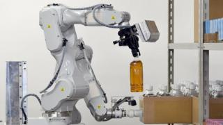 Hitachi's prototype robot with two arms