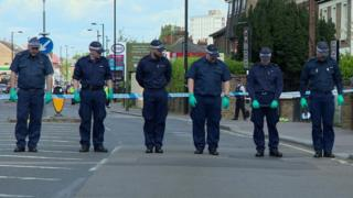 Forensic officers in Enfield