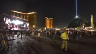 The gunman opened fire from the Mandalay Bay Hotel