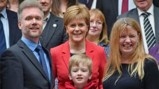 Nicola Sturgeon and Brain family