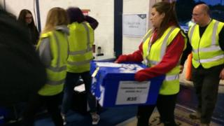 Ballot boxes arrive for count in Dingwall