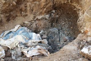 Restos óseos hallados en la Penitenciaría General de Venezuela (PGV).