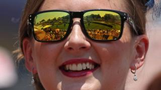 Woman with shades on