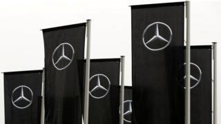 Mercedes flags