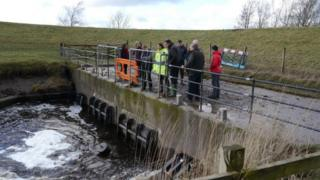 Lyth Valley Advisory Group inspect one of the pumping stations