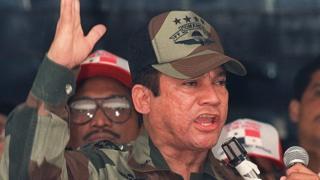 May 1988 shows Panamian General Manuel Antonio Noriega speaking
