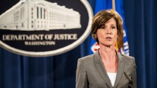 Sally Yates ayaa diiday in ay meelmariso amarkii Donald Trump ee ku aadanaa mamnuucitaanka safarada ee muranka dhaliyay