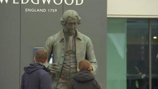 Statue of Staffordshire-born potter Josiah Wedgwood