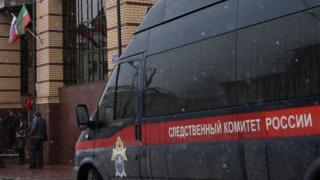 Автомобиль Следственного комитета у здания управления СК по Татарстану