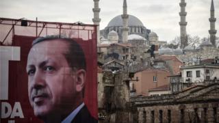 Плакат с Эрдоганом