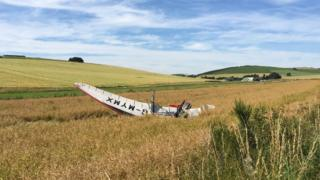 Crashed microlight