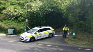 Police at the scene of where the man's body was found