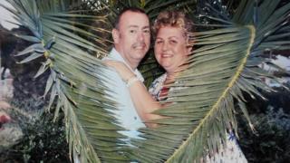 John Geraint Jones with his wife Karisa