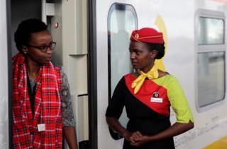 A Kenya Railways attendant
