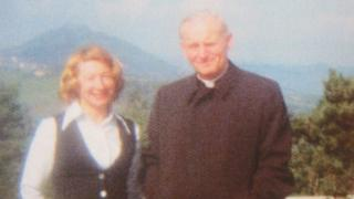 Anna-Teresa Tymieniecka and Cardinal Karol Wojtyla in 1977