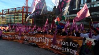 TUC rally in Sheffield