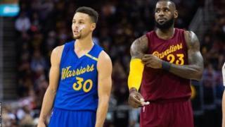 Steph Curry wa Golden State worriors na Lebron James wa Cavaliers