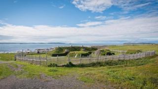 Foto panorâmica do assentamento viking