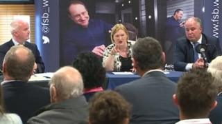 Brian Meechan, Edwina Hart and Andrew RT Davies