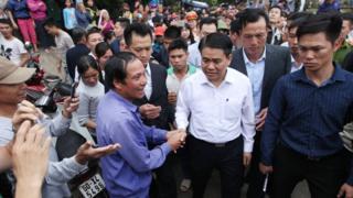 Chủ tịch Hà Nội Nguyễn Đức Chung về Đồng Tâm gặp dân hôm 22/4