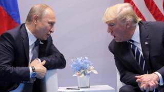 Madaxweynayaasha Ruushka Putin iyo kan Maraykanka Trump oo kulmaya