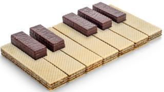teclado de piano hecho de galletas
