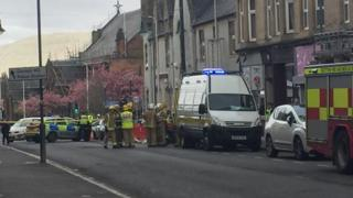 Emergency services at the scene