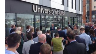 The launch of the University of Suffolk