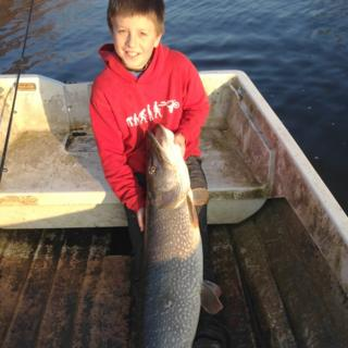 Thomas with the 4ft pike