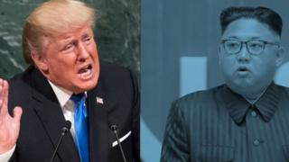 US President Donald Trump and North Korean Supreme Leader Kim Jong
