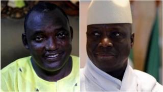 Adama Barrow na Yahya Jammeh