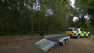 Police vehicle at Roughton Moor Woods