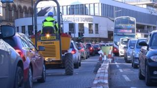Bristol city centre is often gridlocked