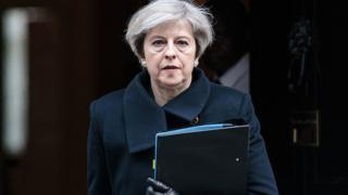 La Première ministre Theresa May quittant Downing Street le 23 mars dernier