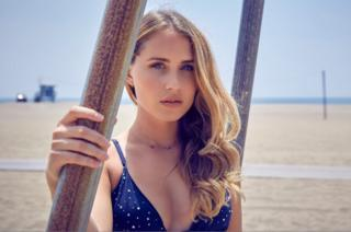 A photograph of model Rachel Rickert, who has filed a complaint against Hyundai and Experiential Talent over a work dispute