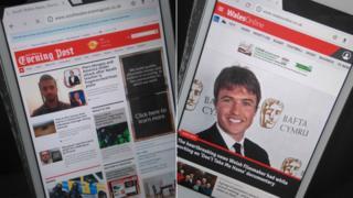 Gwefannau Swansea Evening Post a Wales Online