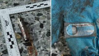 фото фрагментов бомбы и рюкзака террориста