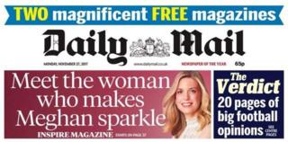 Daily Mail front cover