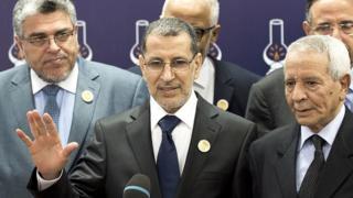 Saad-Eddine El Othmani, le nouveau Premier ministre, en consultation pour la formation du nouveau gouvernement, donne une conférence de presse dans les locaux du PJD