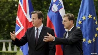 David Cameron meeting Slovenian counterpart Miro Cerar
