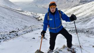 Greg James in the snow