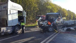 The lorry crash