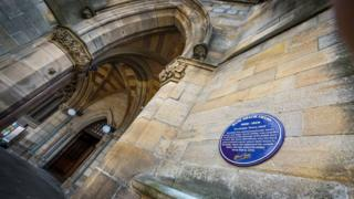 Rochdale Town Hall plaque to Gracie Fields