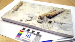 3D colour print of cannons at Drumbeg wreck site