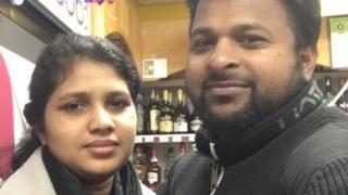 Vinisha Ajanraj and her husband Thangarasa Ajanraj